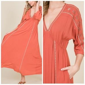V-Neck Dress with Pockets!